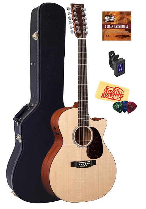 martin gpc12pa4 12 string acoustic electric guitar w hard case ebay. Black Bedroom Furniture Sets. Home Design Ideas