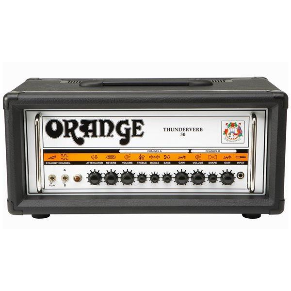 orange th50htc thunderverb 50 watt tube guitar amplifier head black ebay. Black Bedroom Furniture Sets. Home Design Ideas