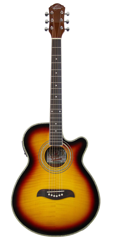 oscar schmidt og10ce concert acoustic electric guitar sunburst w gig bag ebay. Black Bedroom Furniture Sets. Home Design Ideas