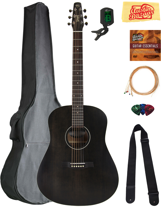 Musical Instruments & Gear Guitars & Basses Seagull Coastline S6 Slim Cw Acoustic Guitar Natural W/ Gig Bag