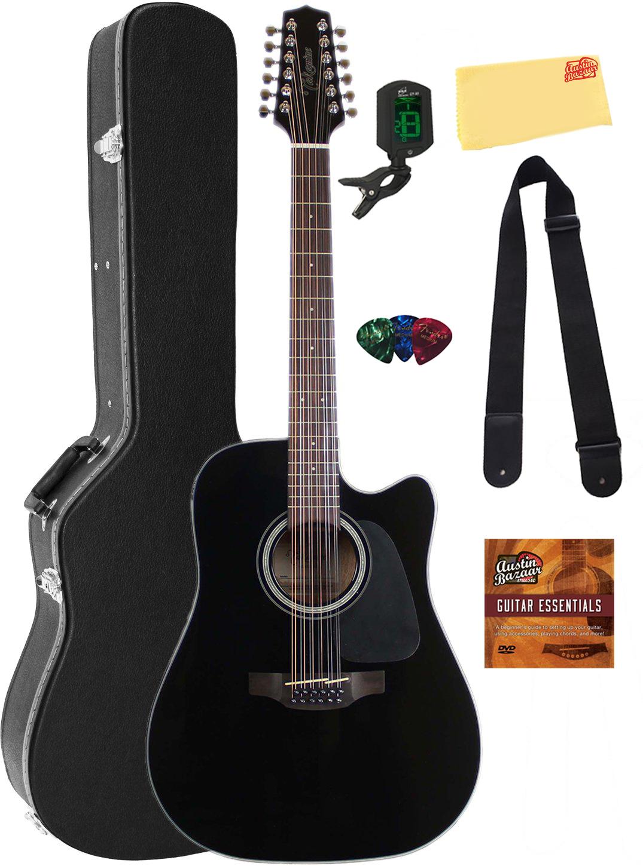 takamine gd30ce12 12 string dreadnought acoustic electric guitar black w case ebay. Black Bedroom Furniture Sets. Home Design Ideas