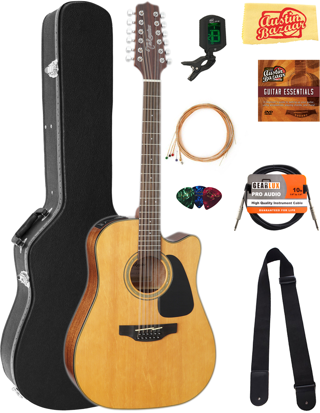 Takamine Gd30ce12 12 String Dreadnought Acoustic Electric Guitar W