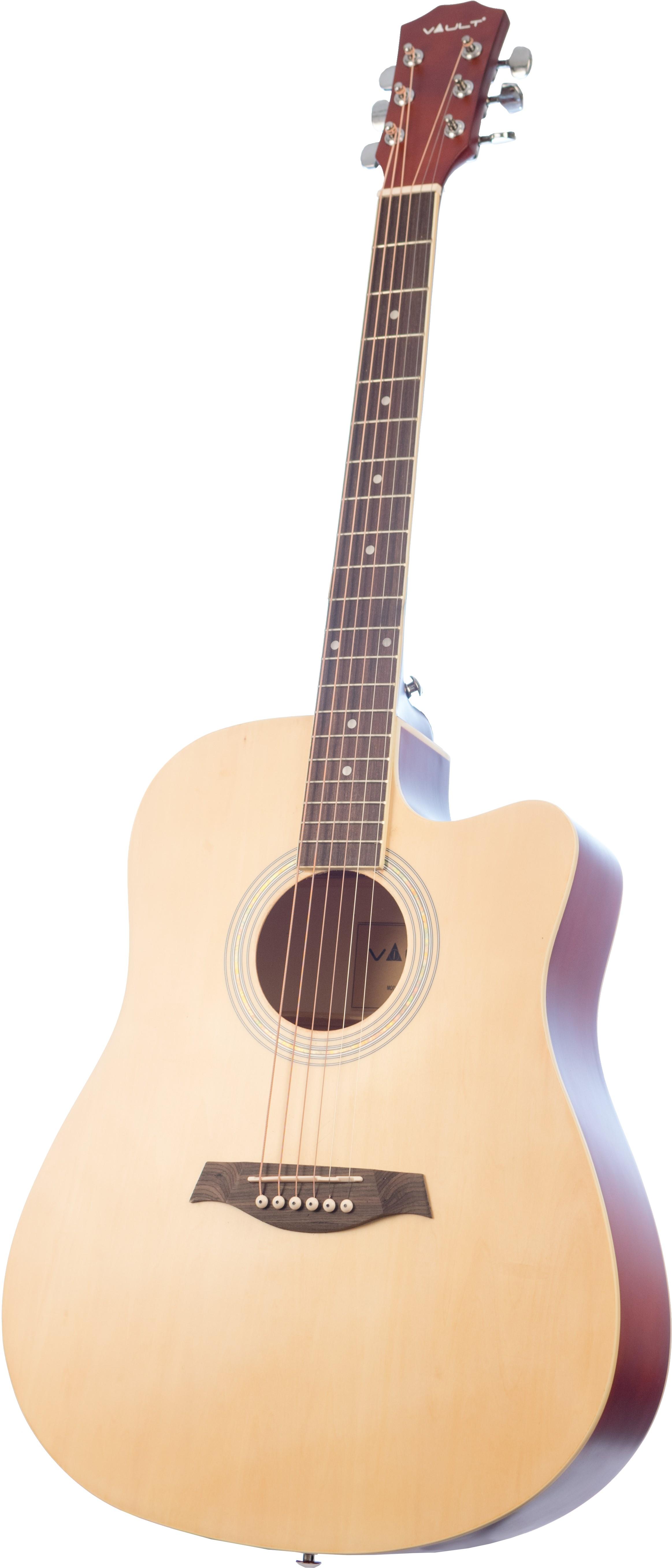 Vault 41-Inch Cutaway Acoustic Guitar - Natural Natural Natural 2b0617