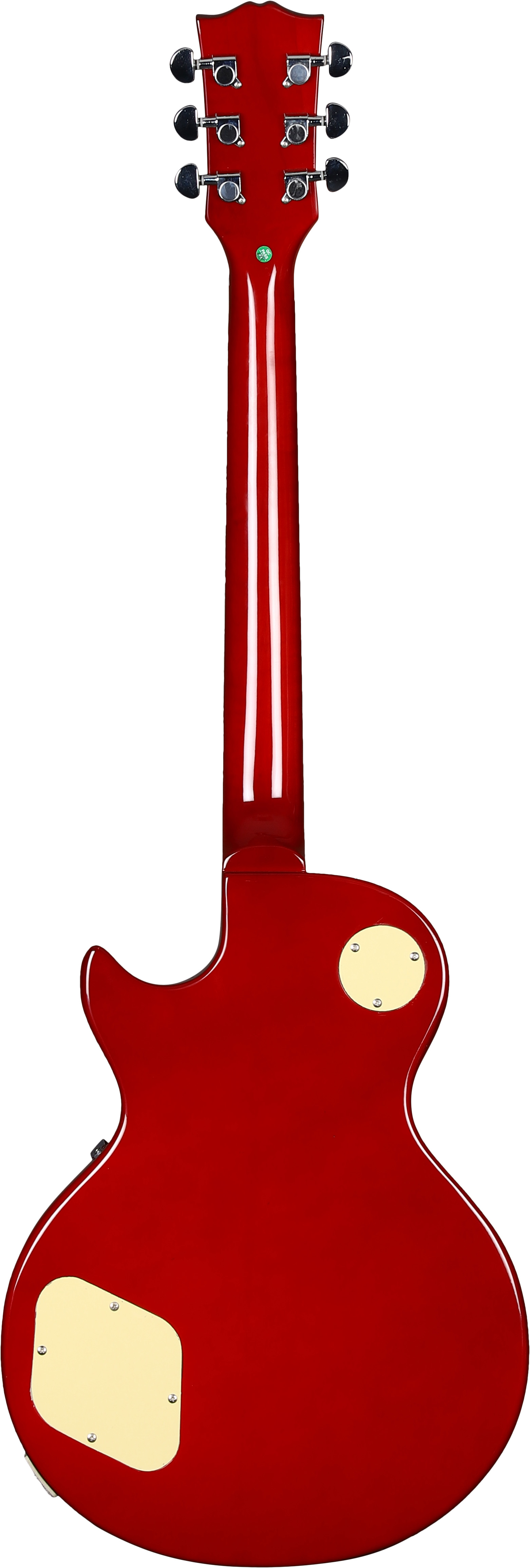 Vault-LP1-Ovangkol-Fretboard-Electric-Guitar-Cherry-Red-Burst-w-Gig-Bag thumbnail 5