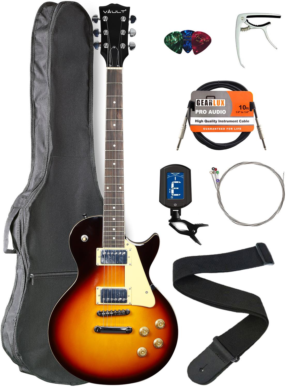Vault-LP1-Ovangkol-Fretboard-Electric-Guitar-Tobacco-Sunburst-w-Gig-Bag