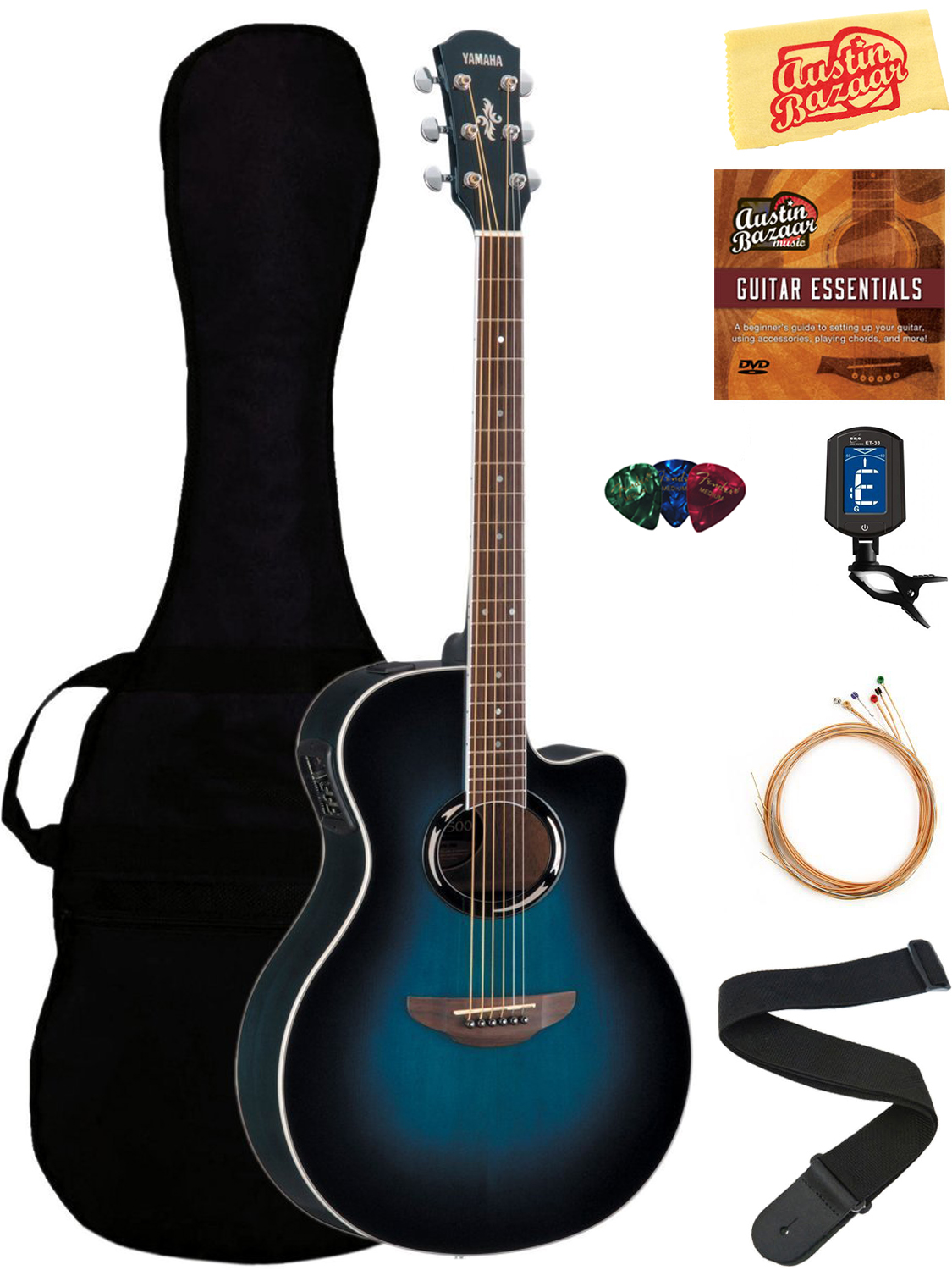 yamaha apx500iii thinline cutaway acoustic electric guitar. Black Bedroom Furniture Sets. Home Design Ideas