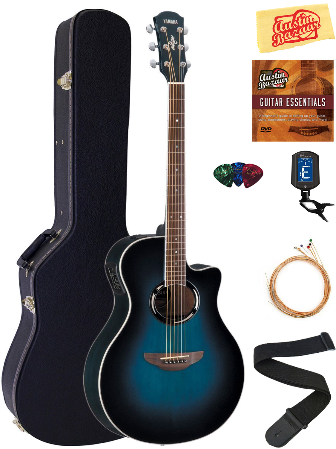 yamaha apx500iii acoustic electric guitar oriental blue