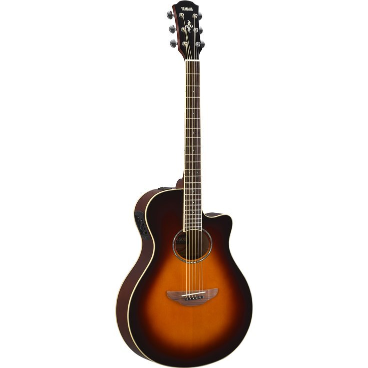 Sunburst Bundle w// Gig Bag Yamaha APX600 Thin Body Acoustic-Electric Guitar