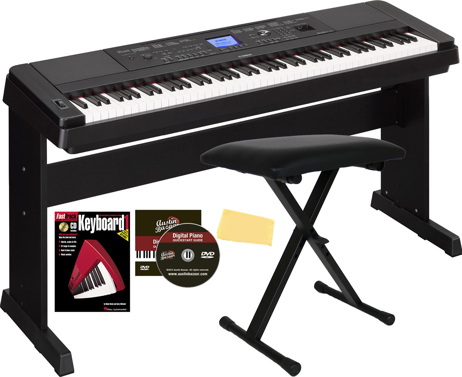 yamaha dgx 660 digital piano black w x style bench. Black Bedroom Furniture Sets. Home Design Ideas