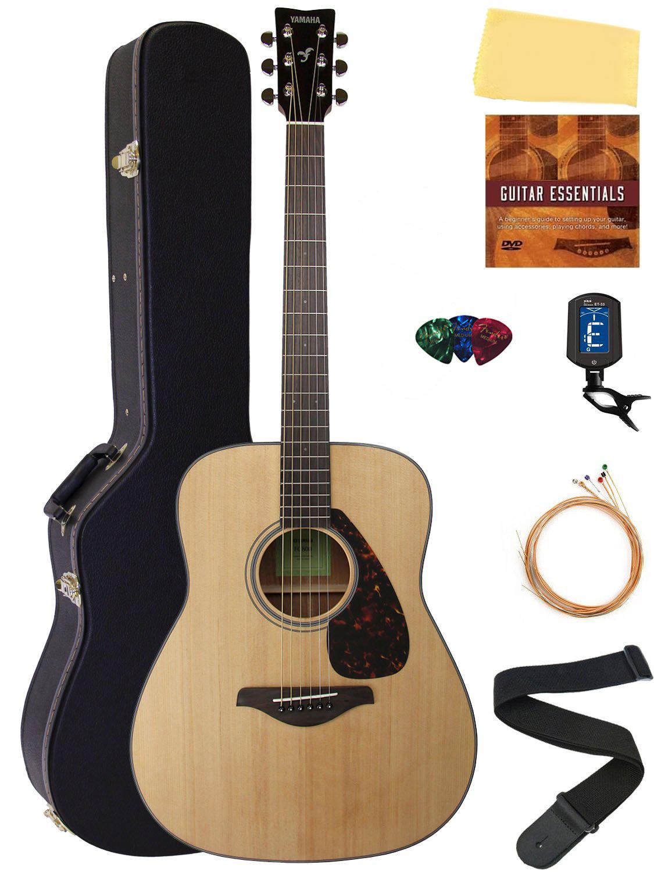 Yamaha fg800 acoustic guitar natural w hard case ebay for Yamaha acoustic guitar ebay