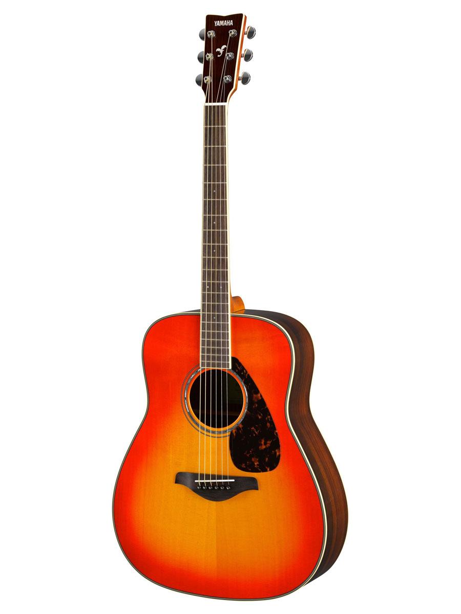 Yamaha fg830 solid top folk acoustic guitar autumn burst for Yamaha solid top