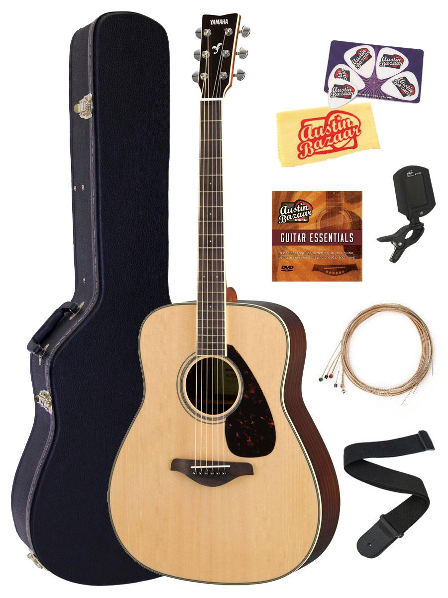 Yamaha fg830 solid top folk acoustic guitar natural w for Yamaha acoustic guitar ebay