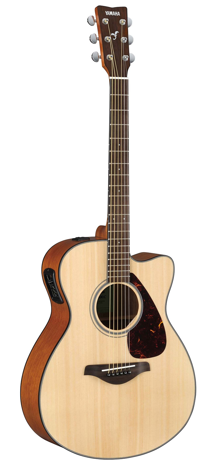 yamaha fsx800c solid top small body acoustic electric guitar natural 686751474729 ebay. Black Bedroom Furniture Sets. Home Design Ideas