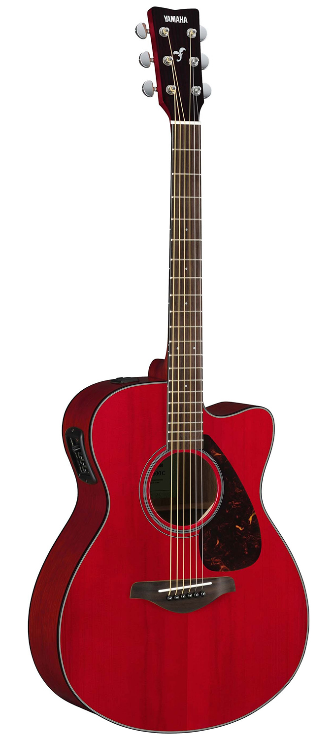yamaha fsx800c solid top small body acoustic electric guitar ruby red ebay. Black Bedroom Furniture Sets. Home Design Ideas