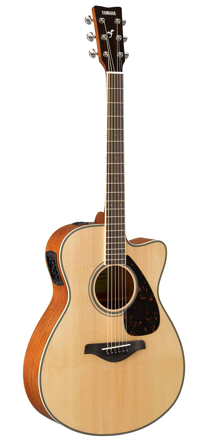 Yamaha fsx820c small body acoustic electric guitar w hard for Yamaha reface hard case
