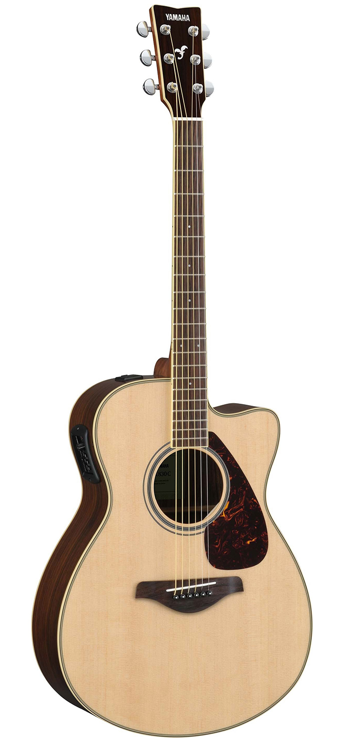 yamaha fsx830c solid top small body acoustic electric guitar natural ebay. Black Bedroom Furniture Sets. Home Design Ideas
