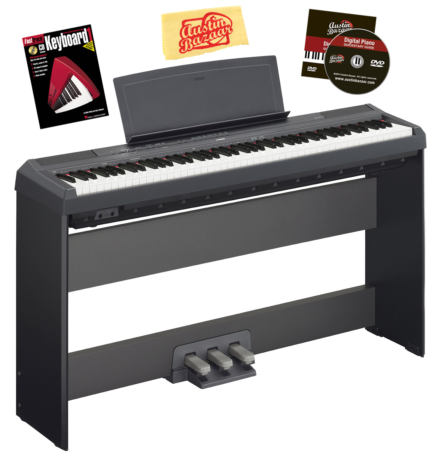 Yamaha p 115 digital piano w l85 stand lp 5a pedal for Yamaha p115 stand
