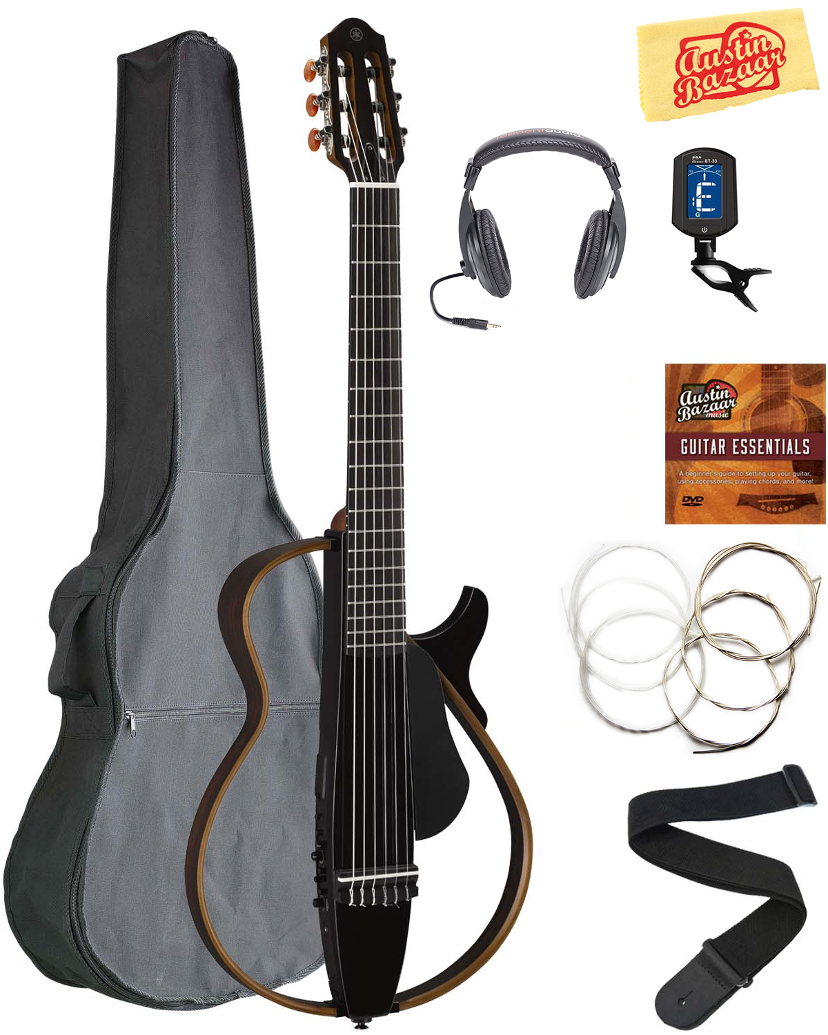 yamaha slg200n nylon string silent guitar trans black w rh ebay com yamaha guitar buying guide Yamaha Bass Guitar