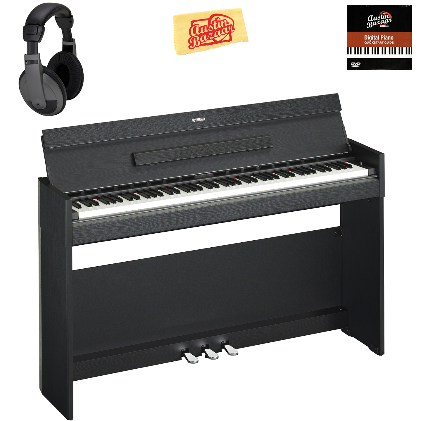yamaha ydp s52b arius console digital piano black w. Black Bedroom Furniture Sets. Home Design Ideas
