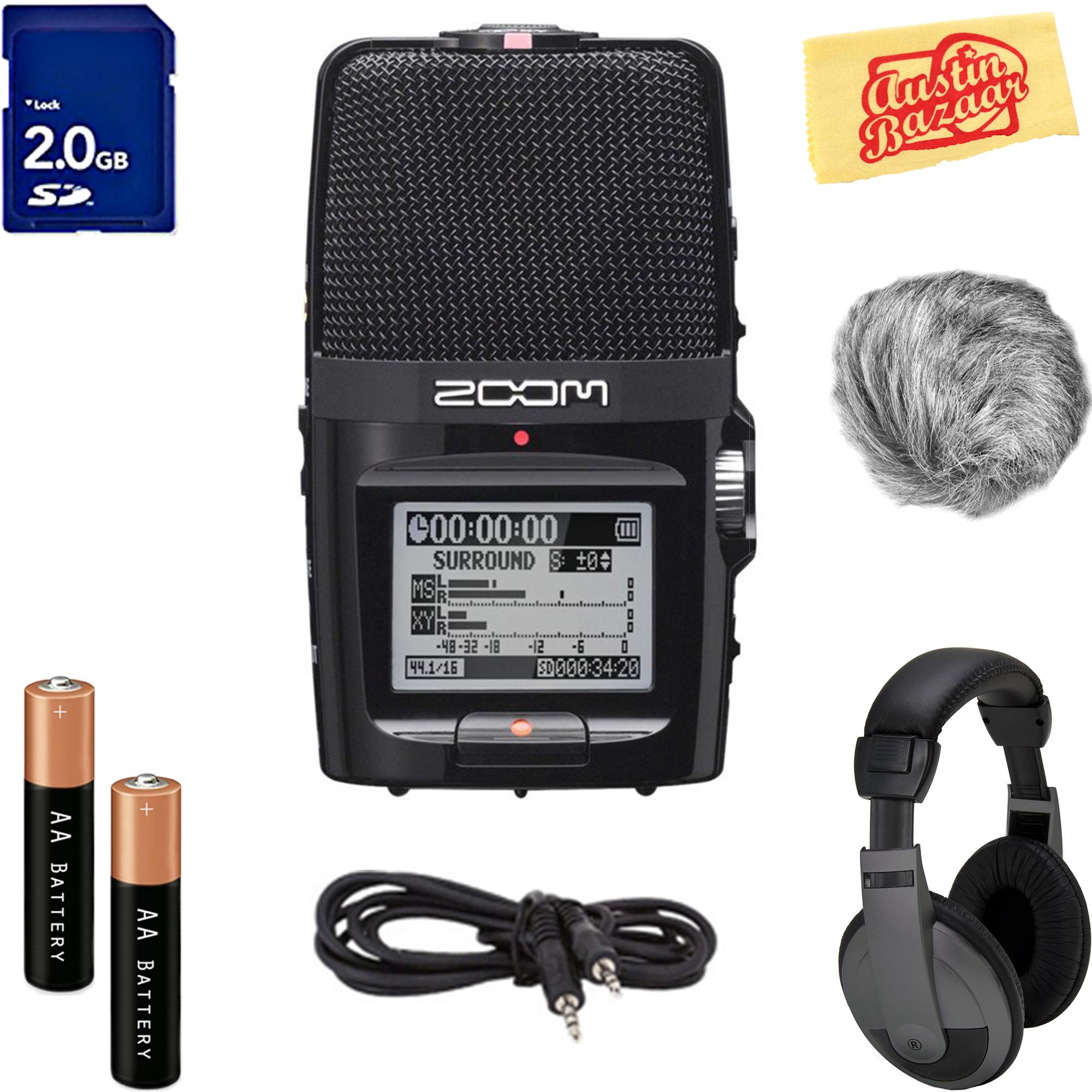 Zoom H2n Handy Recorder w  Headphones