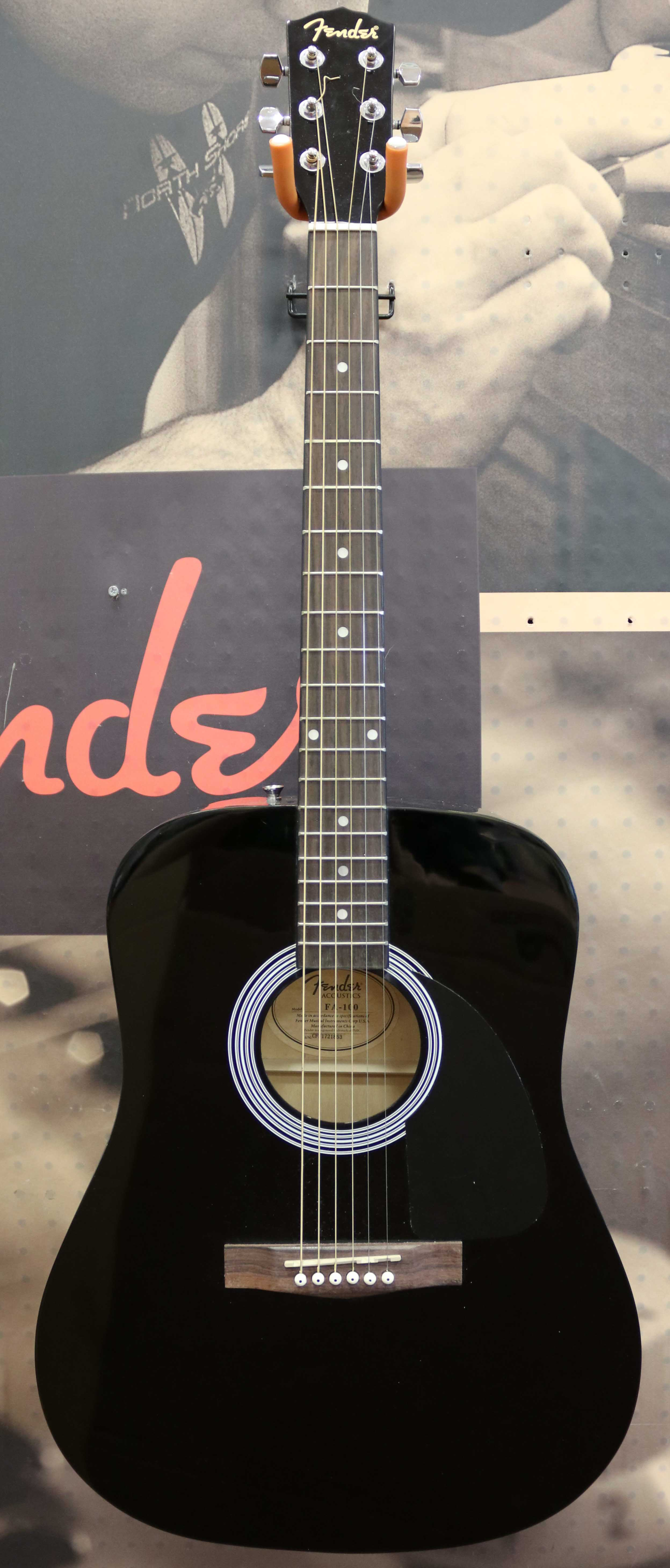 9a7c3262c2 Fender Fa-100 Dreadnought Acoustic Guitar - Black for sale online | eBay
