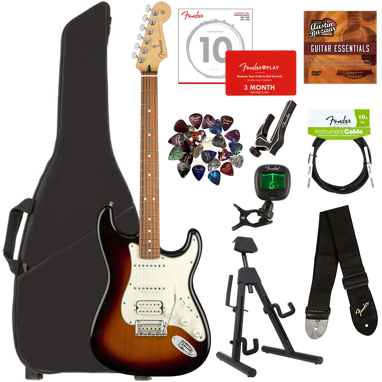 Fender Player Stratocaster HSS, Pau Ferro - 3-Farbe Sunburst w  Gig Bag