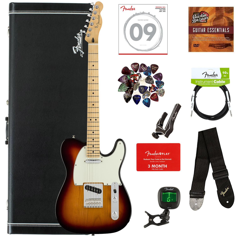 Fender Player Telecaster, Maple - 3-Farbe Sunburst w  Hard Case