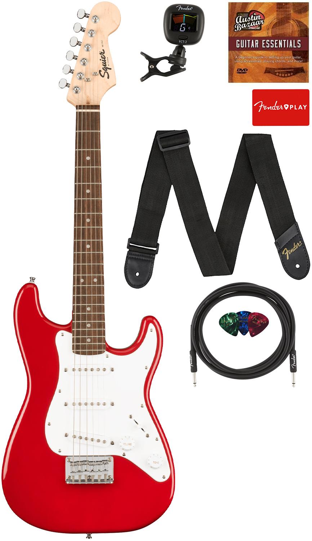 Fender Squier 3/4-Size Mini Stratocaster - Dakota Red w/ Cable