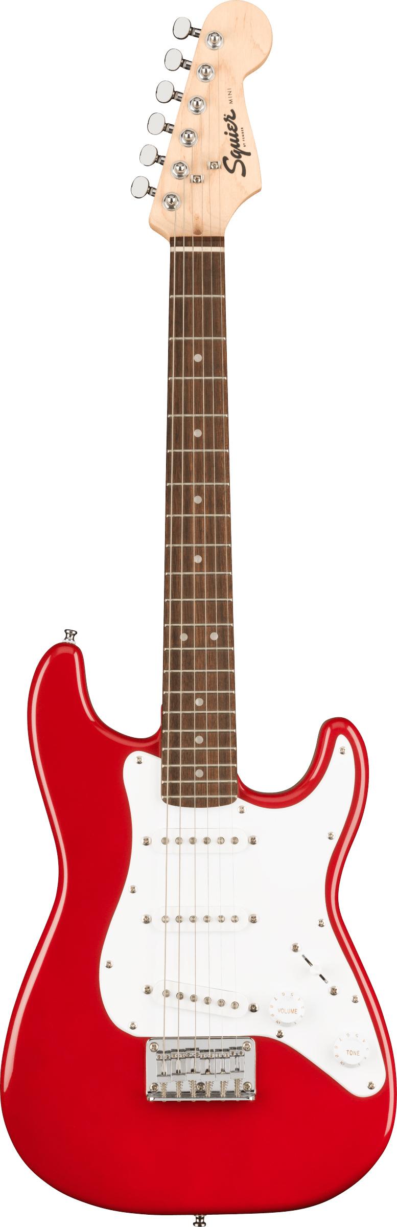 thumbnail 2 - Fender Squier 3/4-Size Mini Stratocaster - Dakota Red w/ Cable