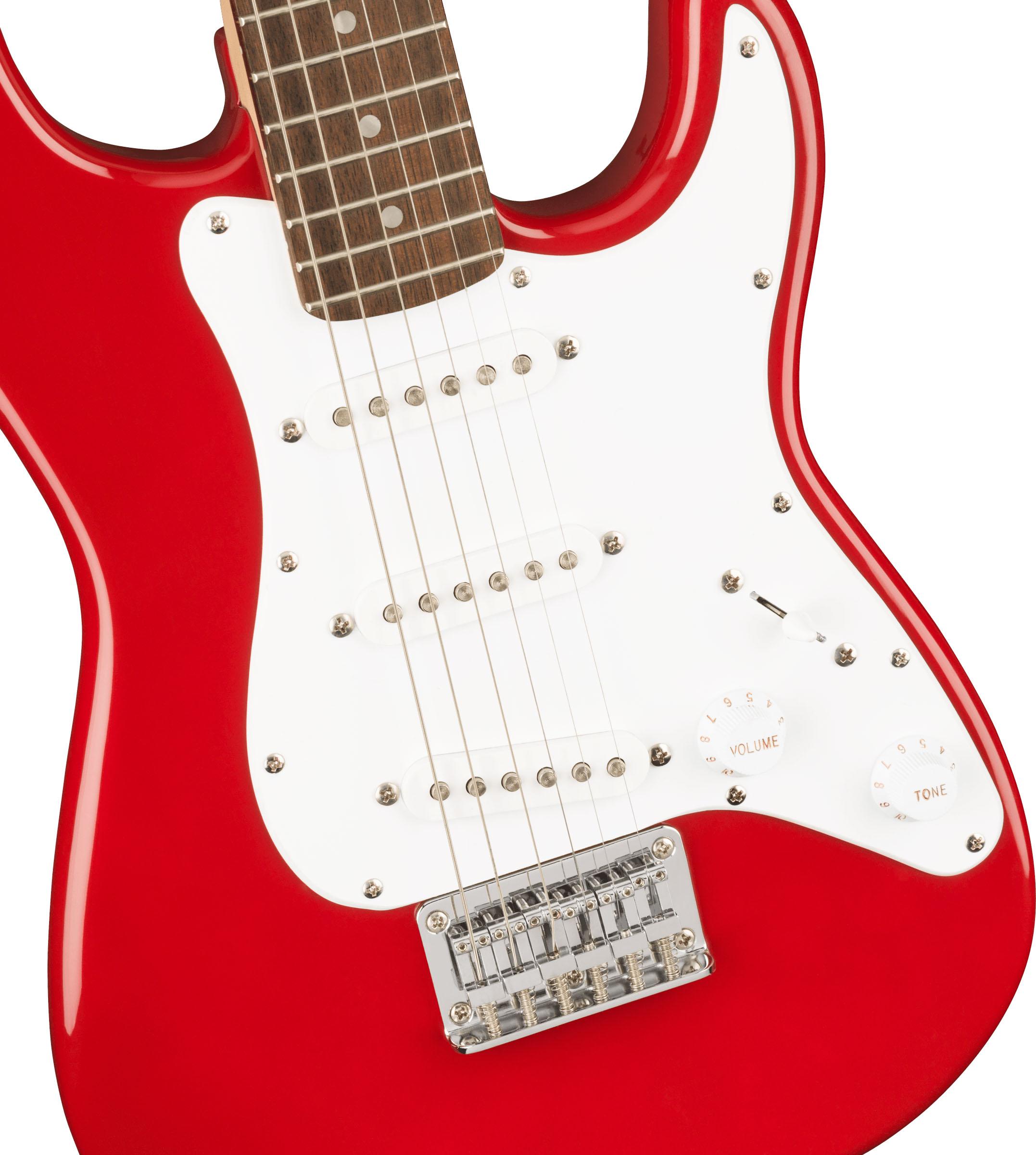 thumbnail 4 - Fender Squier 3/4-Size Mini Stratocaster - Dakota Red w/ Cable