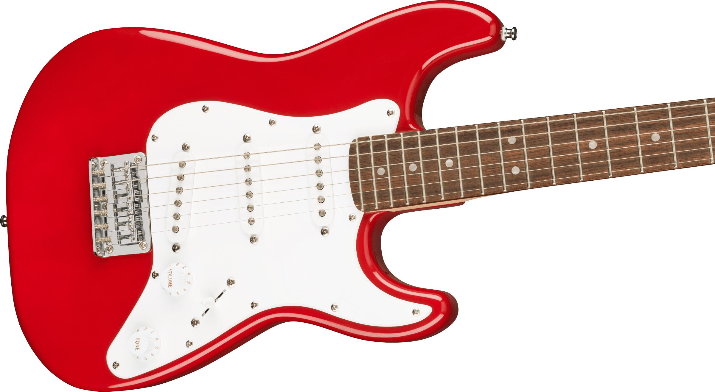 thumbnail 5 - Fender Squier 3/4-Size Mini Stratocaster - Dakota Red w/ Cable