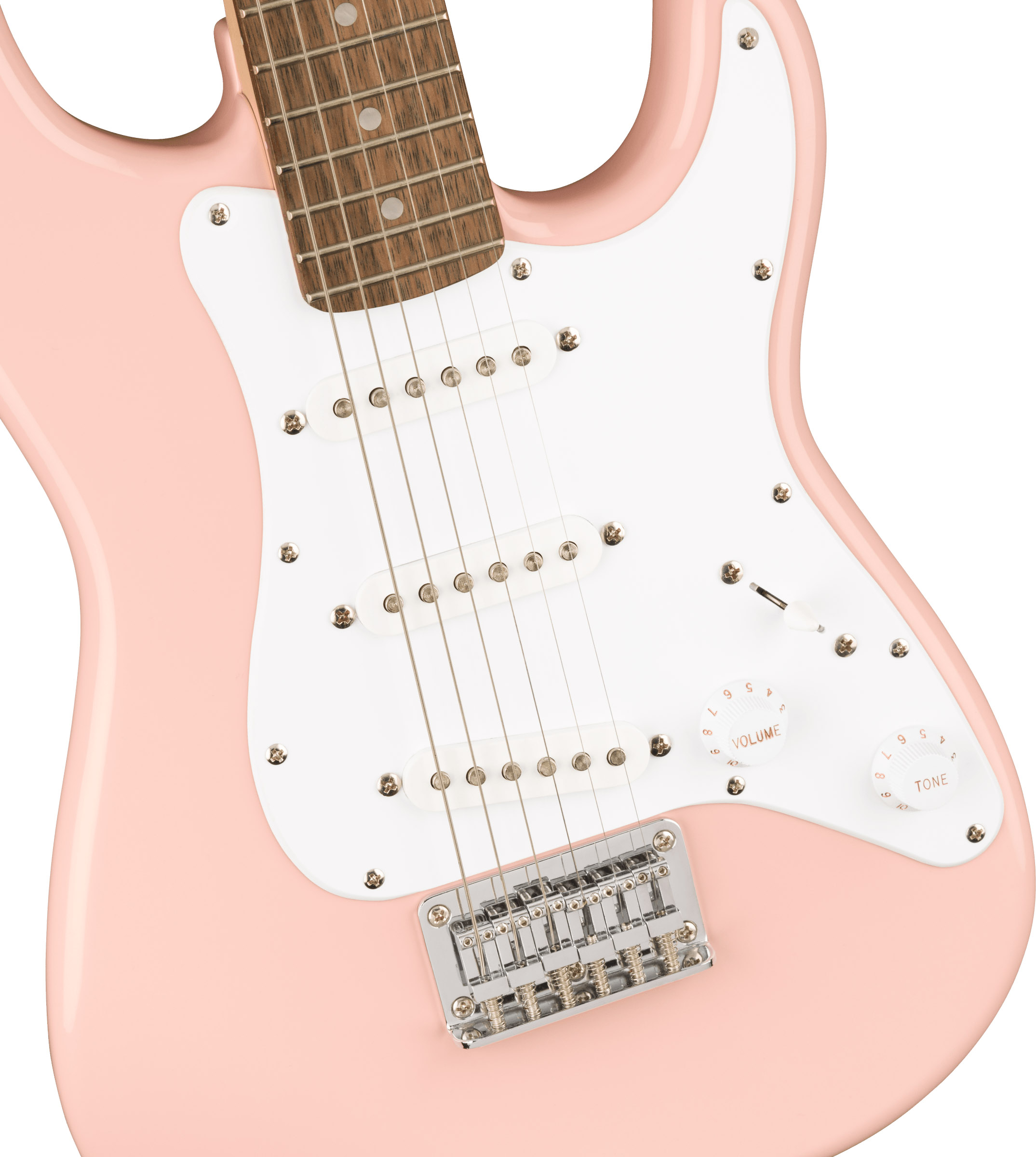 thumbnail 4 - Fender Squier 3/4-Size Mini Stratocaster - Shell Pink w/ Amplifier