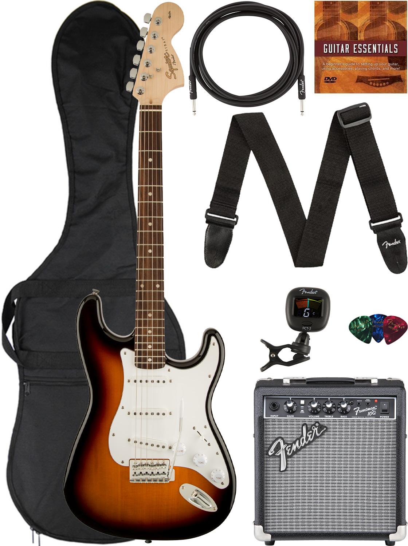 Fender Squier Affinity Stratocaster - Brown Sunburst w/ Frontman 10G Amplifier
