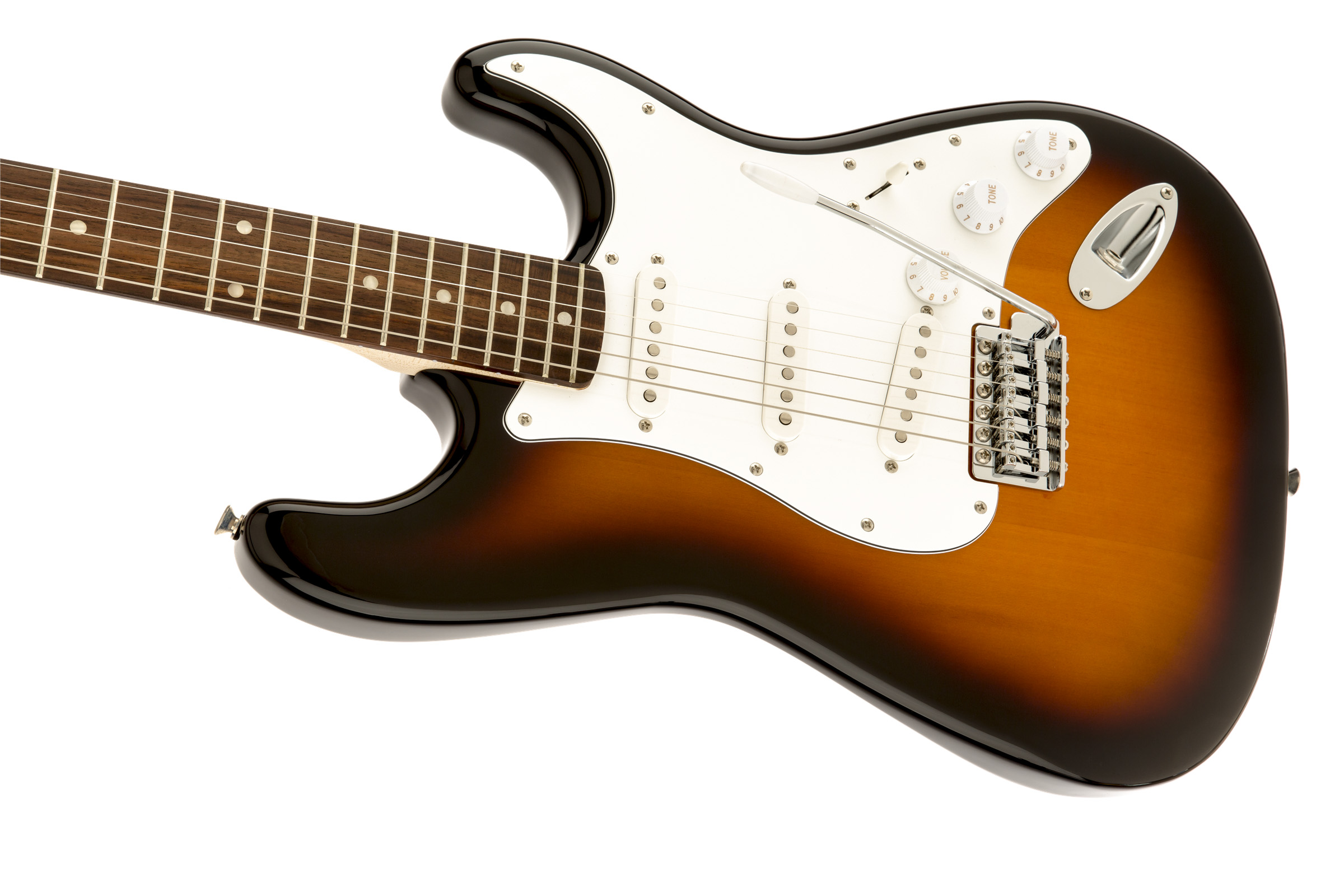 thumbnail 4 - Fender Squier Affinity Stratocaster - Brown Sunburst w/ Frontman 10G Amplifier