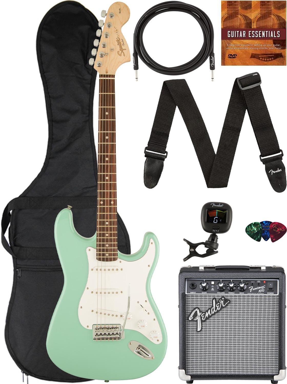 Fender Squier Affinity Stratocaster - Surf Green w/ Frontman 10G Amplifier