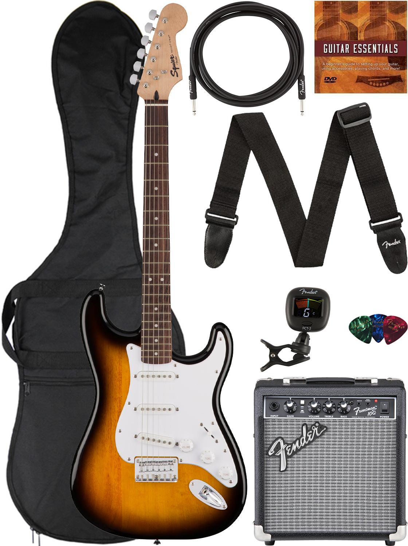 Fender Squier Bullet Stratocaster HT - Sunburst w/ Frontman 10G Amplifier