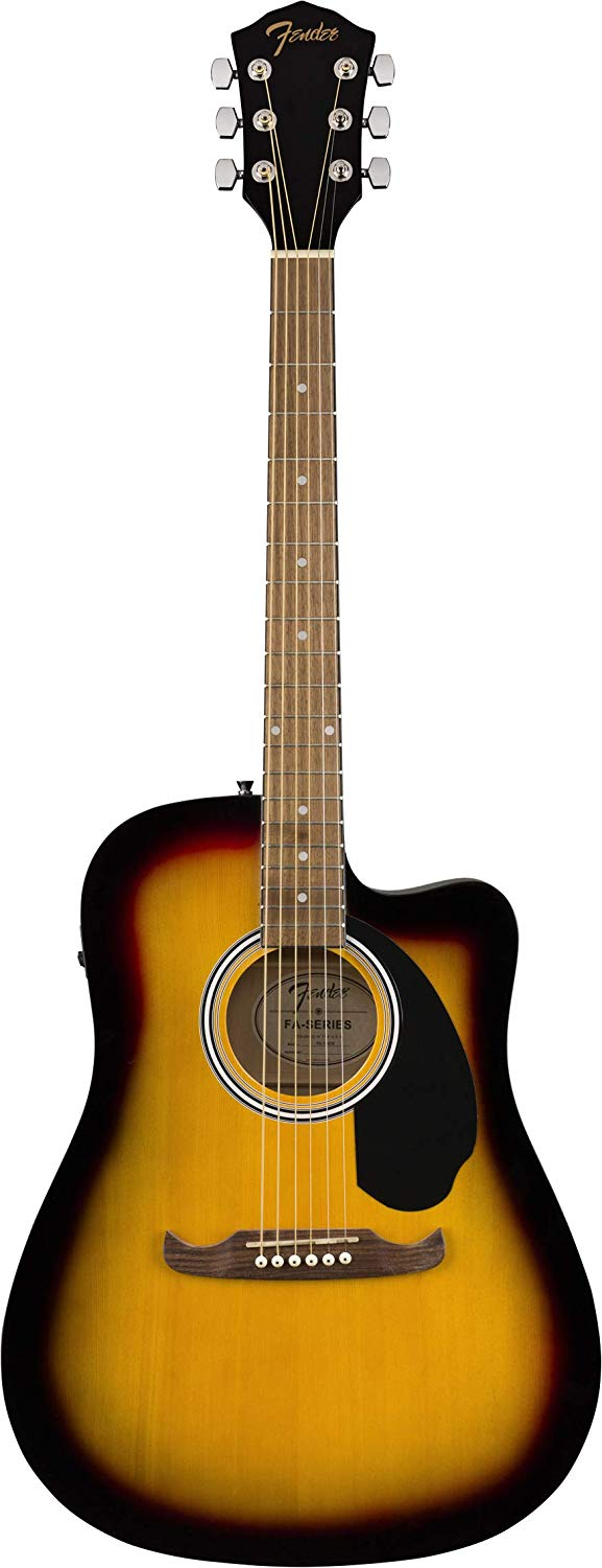 fa 125ce dreadnought cutaway acoustic electric guitar