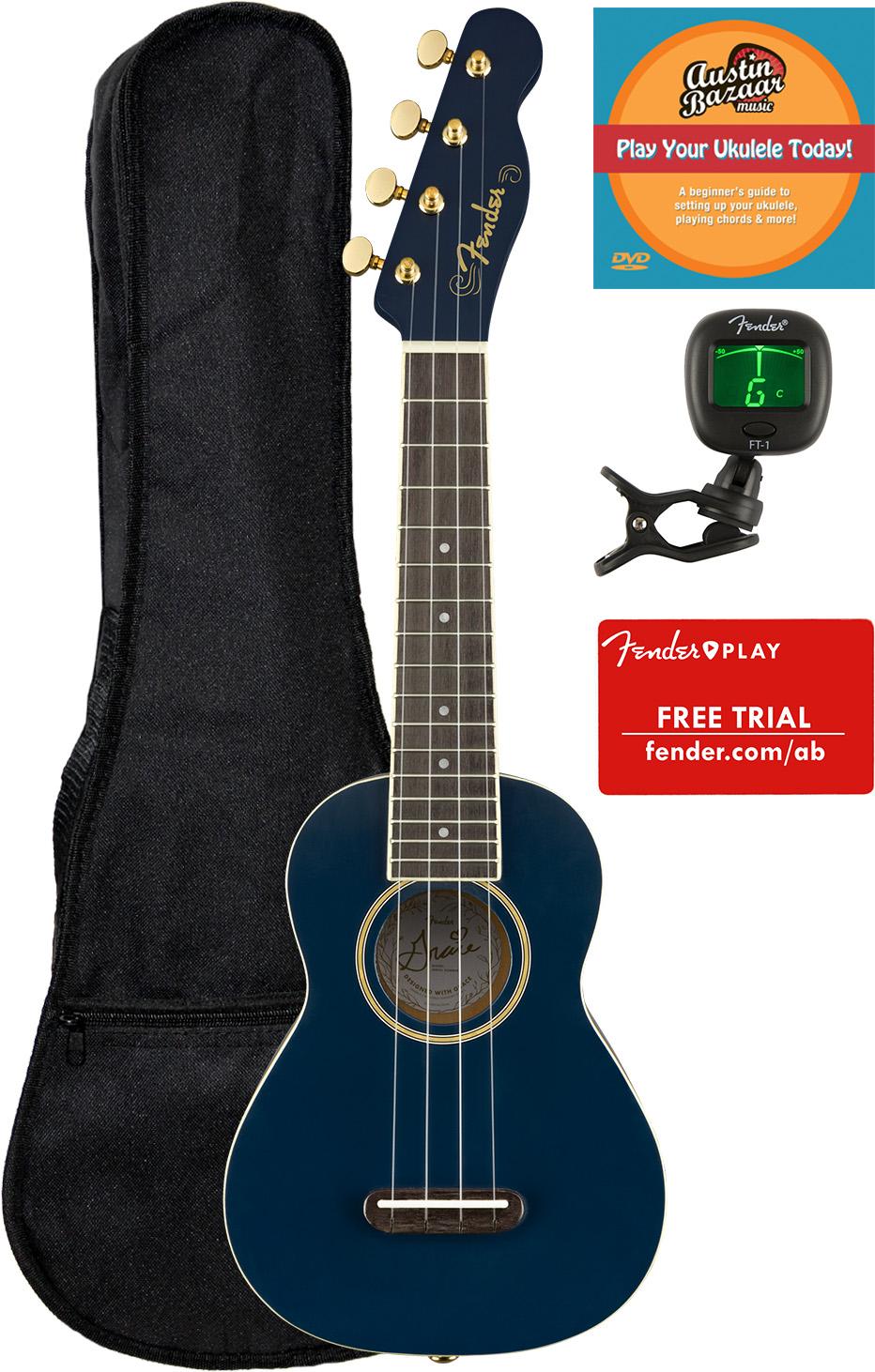 Fender Grace Vanderwaal Signature Soprano Ukulele W Hard Case For Sale Online Ebay