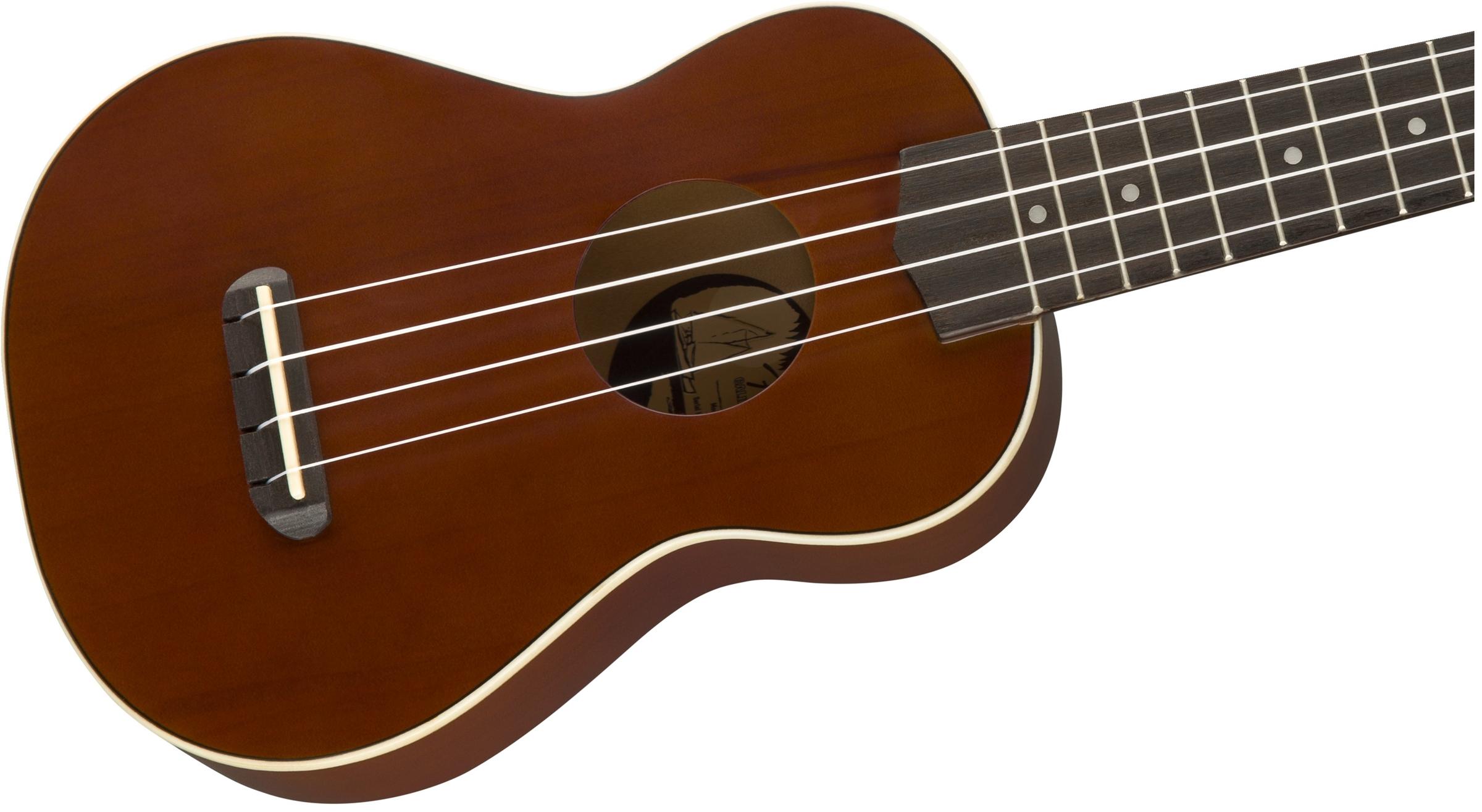 Fender Venice Soprano Ukulele Natural   NEW