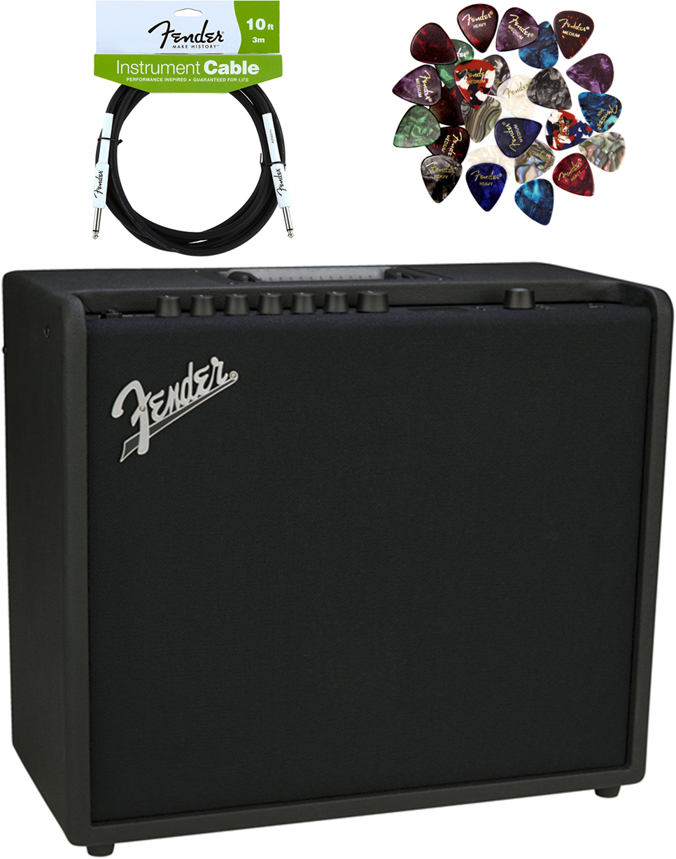fender mustang gt 100 watt bluetooth guitar amplifier cable and picks bundle for sale online ebay. Black Bedroom Furniture Sets. Home Design Ideas
