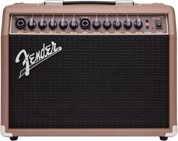 Fender-Acoustasonic-40-Acoustic-Guitar-Amplifier-Brown-w-Instrument-Cable thumbnail 2