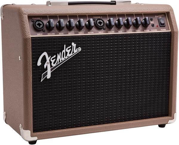 Fender-Acoustasonic-40-Acoustic-Guitar-Amplifier-Brown-w-Instrument-Cable thumbnail 3