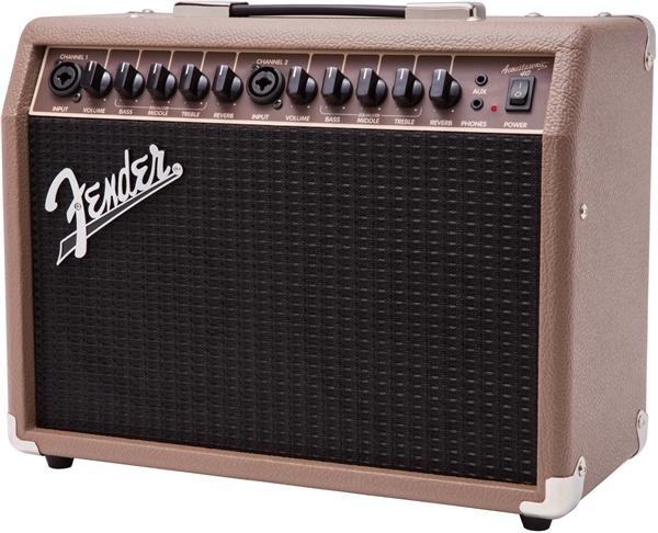 Fender-Acoustasonic-40-Acoustic-Guitar-Amplifier-Brown-w-Instrument-Cable thumbnail 4