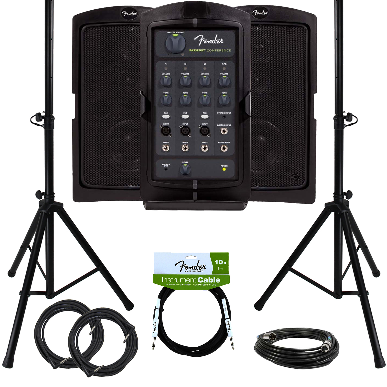 Fender Passport Conference Portable PA System w  Stands