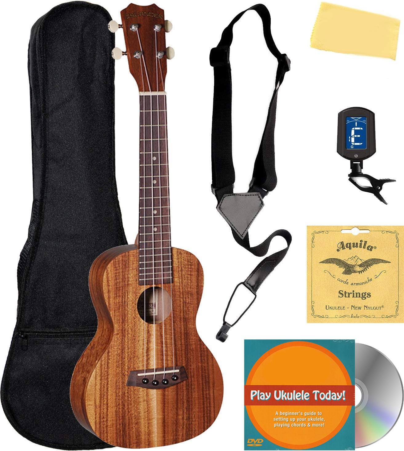Islander Ac 4 Acacia Concert Ukulele W Gig Bag Ebay