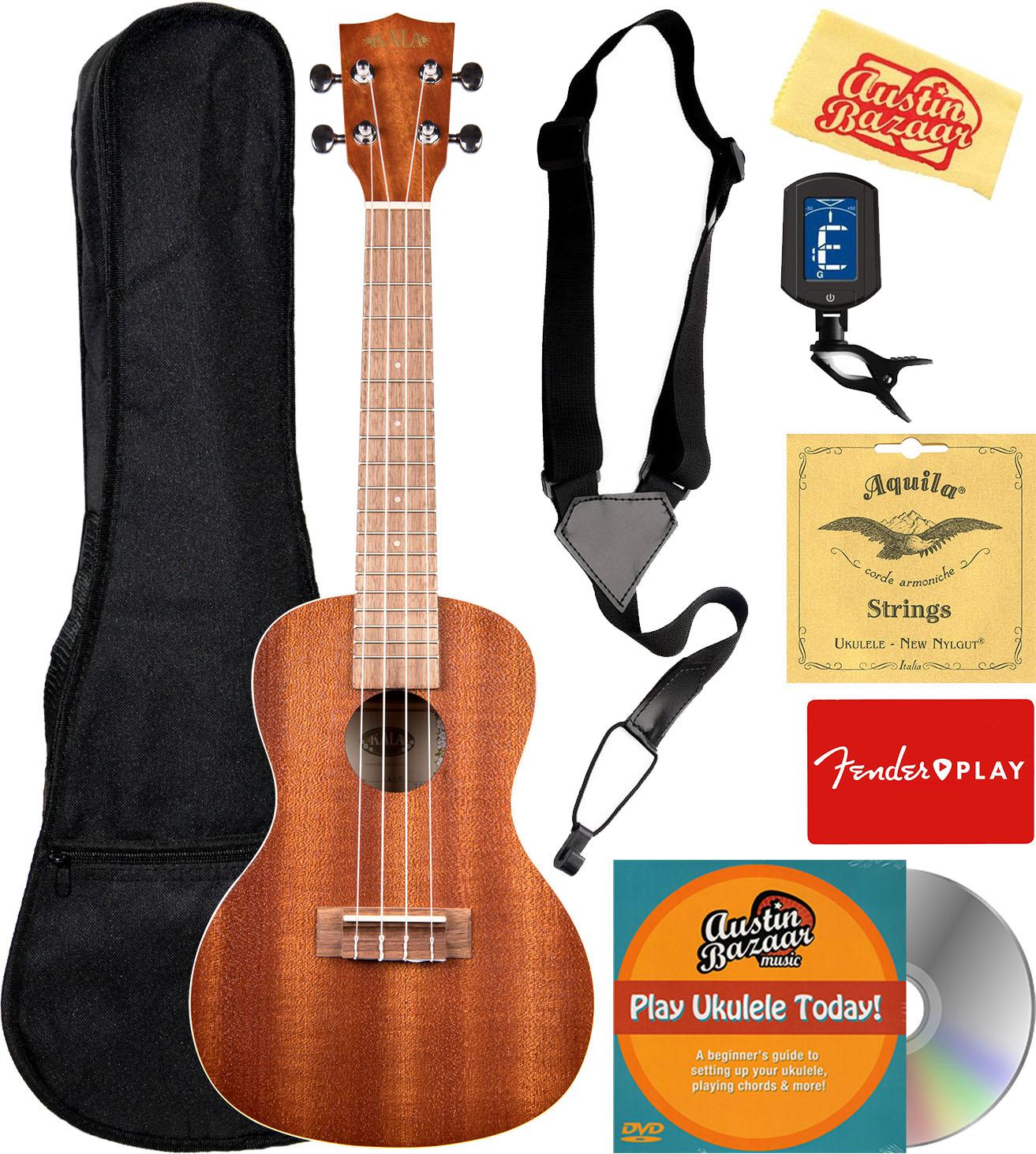 Kala Ka C Satin Mahogany Concert Ukulele W Gig Bag 721405632312 Ebay