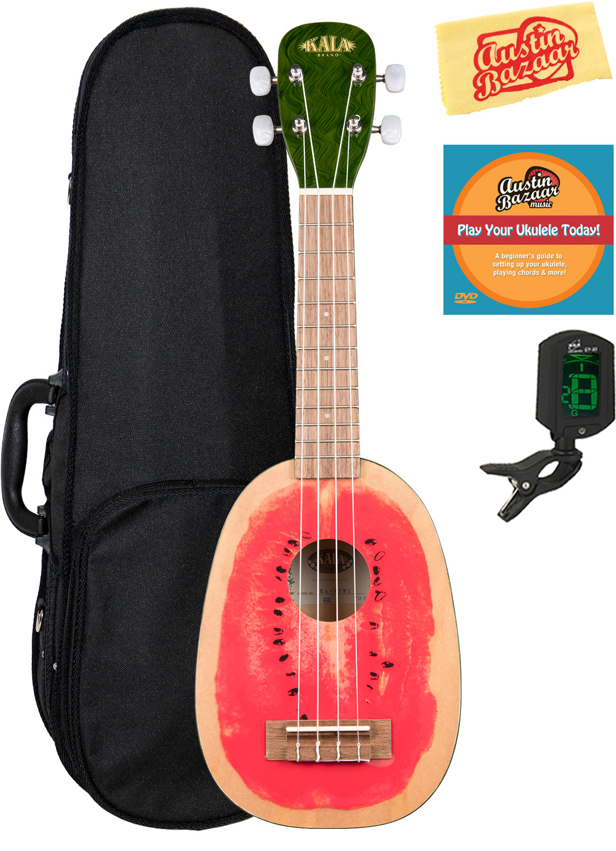 Kala Ka Wtml Watermelon Soprano Ukulele W Hard Case 721405633241 Ebay