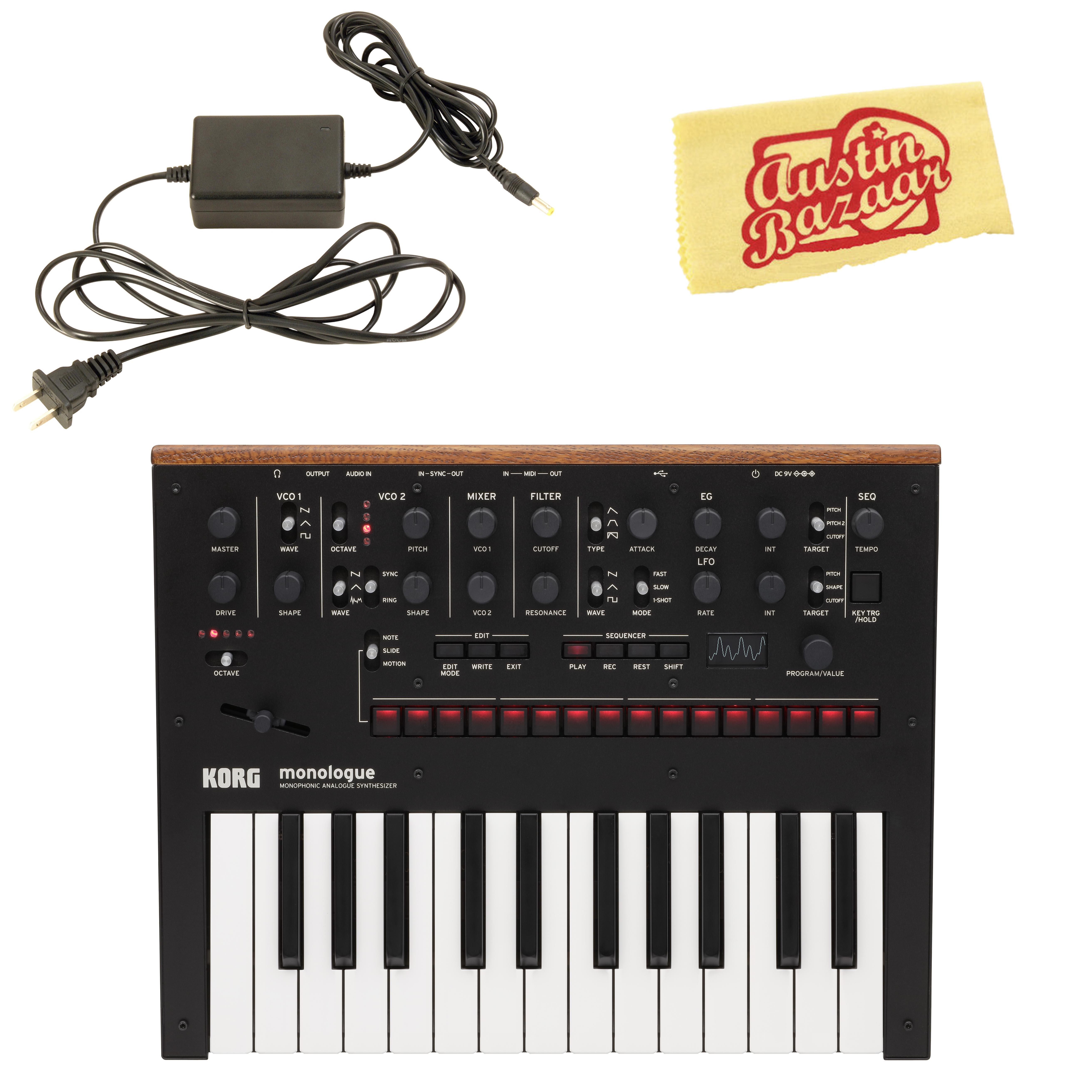 korg monologue monophonic analog synthesizer black w power supply for sale online ebay. Black Bedroom Furniture Sets. Home Design Ideas