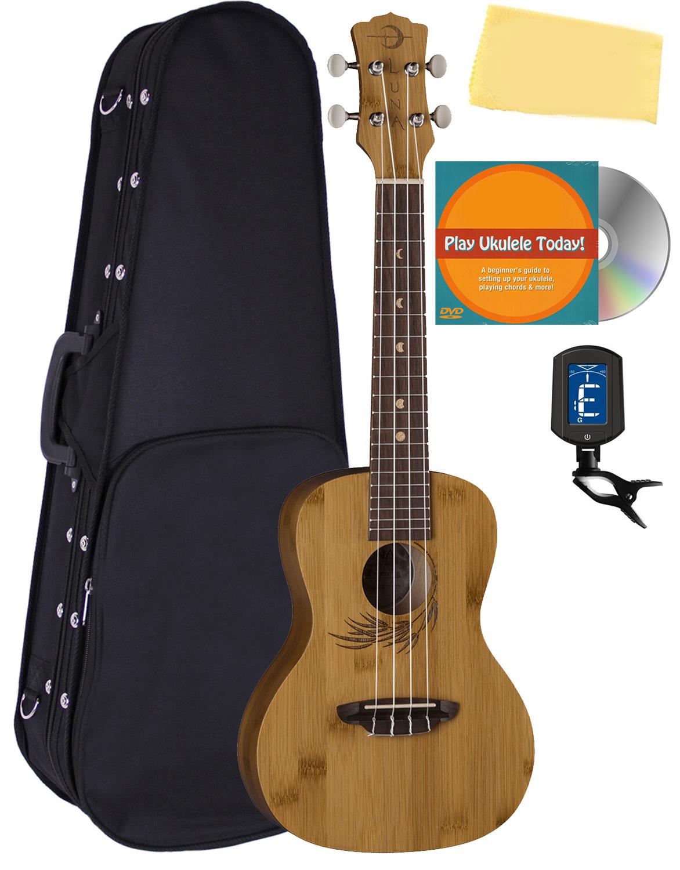Luna Uke Bamboo Concert Ukulele W Hard Case 660845723726 Ebay