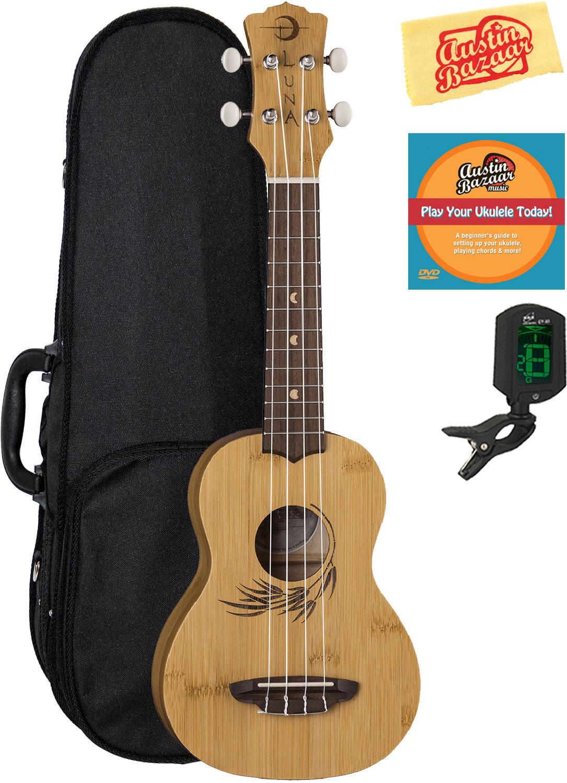 Luna Uke Bamboo Soprano Ukulele W Hard Case 660845723733 Ebay